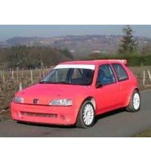 Peugeot 106 Phase 1 3dr - Full Lexan Polycarbonate Window Kit (4mm Clear)