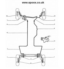 Genuine OE Peugeot 205 1.9 GTI original front brake line