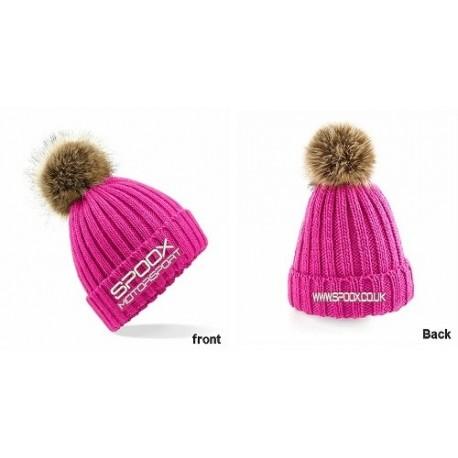 Team Spoox Motorsport Fuschsia Pink  Beanie Hat