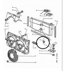 Genuine OE Peugeot 205 radiator lower mount rubber (1)