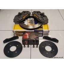 Peugeot 106 GTI & Rallye AP Racing 4 pot brake kit - 304mm (Pro 5000+)