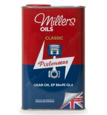 Millers Oils Classic EP80w90 GL4 gear oil for classic transmissions - 1 litre