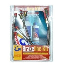 Peugeot 405 Mi16 Braided Brake Line kit - 6 Line