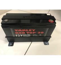 Spoox Motorsport Varley Red Top 30 Alloy Battery Tray (Black)