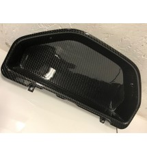 Peugeot 106 Series 2 Carbon Fibre Clock Binnacle Surround - Gloss - Flat Back