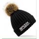 Team Spoox Motorsport Black Pom Pom Beanie Hat