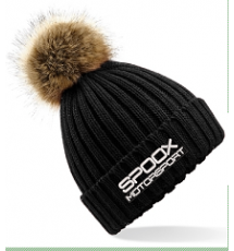 Team Spoox Motorsport Black Pom Pom Beanie Hat