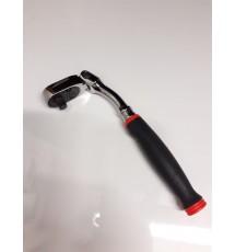 "FHOF80A 3/8"" Drive Std. Handle Offset Soft Grip Flex head Ratchet (Red)"