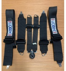 Custom Cobra / TRS Pro International Ultralite FIA Approved 6 Point Saloon Race Harness Black