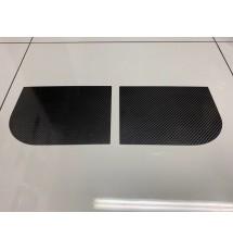 Peugeot 106 Carbon Fibre Front Door Speaker Blanks