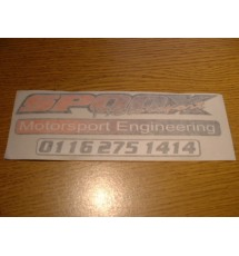 Spoox Motorsport, Motorsport Engineering Decal (ORANGE/BLACK) Sm
