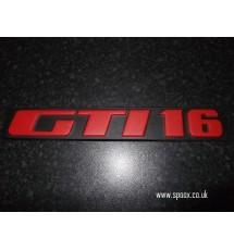 Peugeot 309 GTI-16 tailgate badge