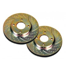 Peugeot 206 CC EBC TurboGroove Rear Brake Discs (PAIR)