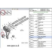 306 Xsi 1.8 16v Cam Belt Tensioner Securing Bolt