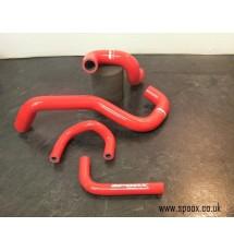 Peugeot 406 Sri Turbo Oil Breather Hose Kit (Red)