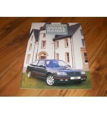 Peugeot 309 GTI-16 Sales Brochure