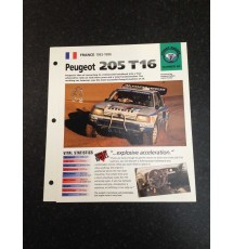Peugeot 205 T16 Street Racers Collectors Card 25