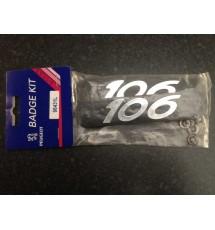 Genuine OE Peugeot 106 S2 Mudflap Badge Kit