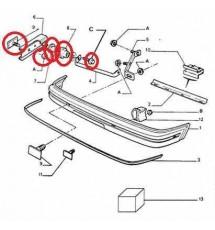 Peugeot 205 Gti Front Bumper Slider Fitting Kit